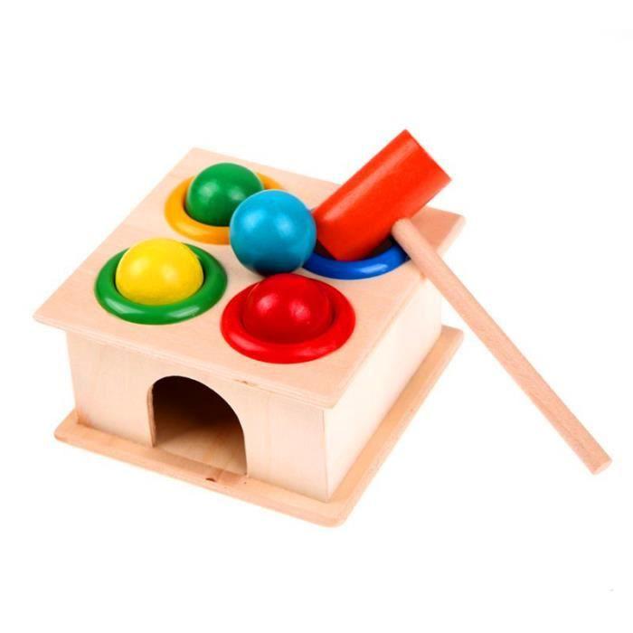 1 ensemble en bois marteau balle marteau boîte enfants amusant jouer Hamster jeu jouet apprentissage précoce jouets éducatifs