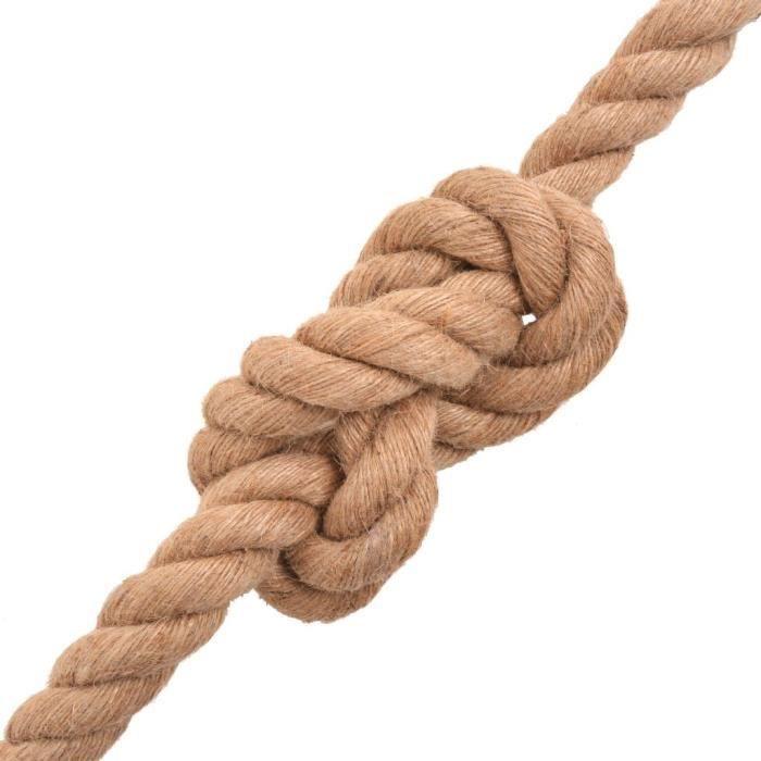 Cordes et cables de construction Corde 100 % jute 40 mm 30 m