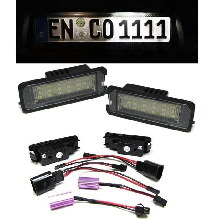 ECLAIRAGE PLAQUE IMMATRICULATION A 18 LED SMD VW GOLF 5 6 POLO EOS NEW BEETLE PASSAT SCIROCCO