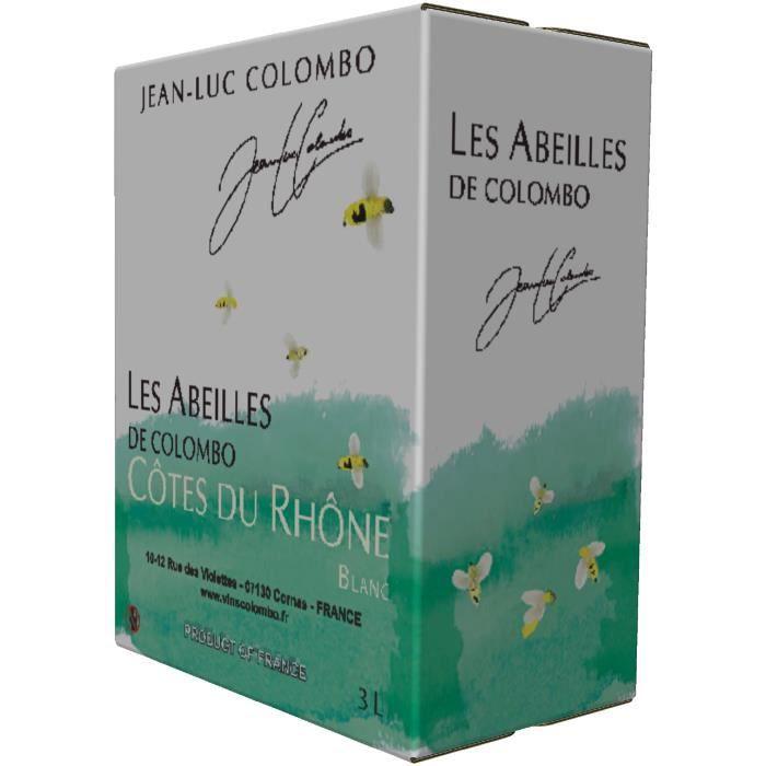 Jean-Luc Colombo Côtes du Rhône blanc Les Abeilles 2019 Bag in Box 3L