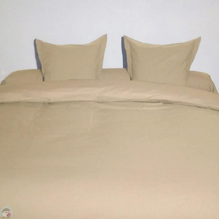 Housse de couette king size beige 300x250 cm