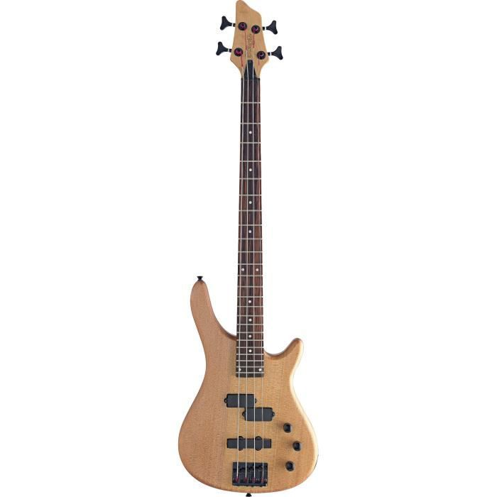 STAGG BC300-NS Basse Type Slap - Naturel Satin