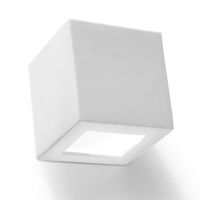 Applique Murale Céramique LEO Lampe Murale Moderne boho Design pr Chambre Salon Escalier Couloir - Blanc