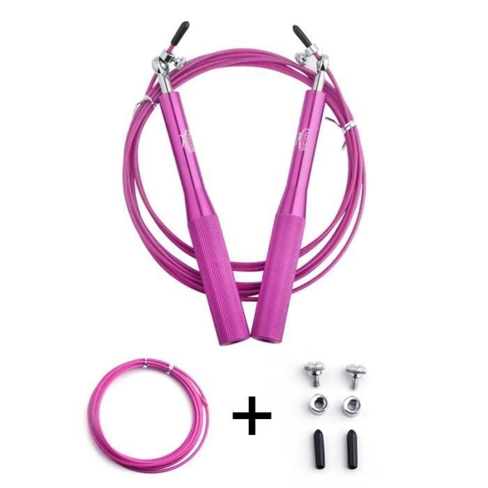 Accessoires Fitness - Musculation,Crossfit corde à sauter professionnelle pour corde à sauter MMA vitesse de roulement - Type Rose