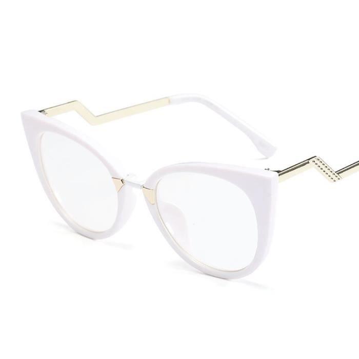 Montures de Lunettes de vue,Lunettes de vue œil de chat femme rose Monture Glasse optique pour femmes et hommes, lunettes - C2 #A