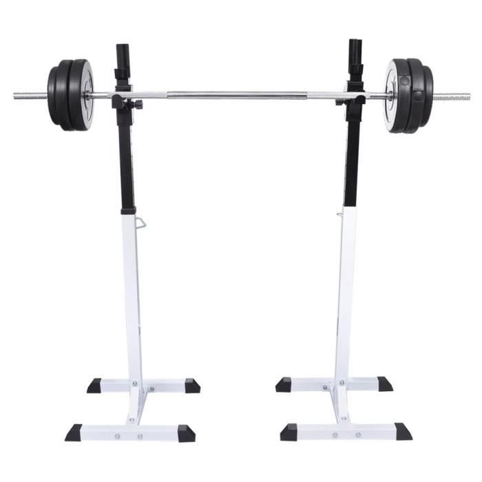 Support barres haltères longs musculation