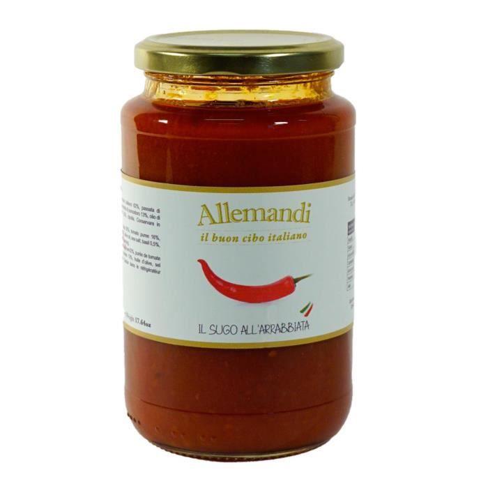 Sauce tomate épicée à la Arrabbiata Allemandi - 180 gr 100% Italienne
