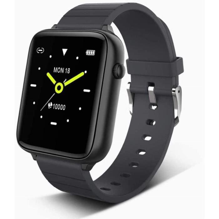 Montre connectée avec écran tactile de 1,54 pouces - Moniteur de fréquence cardiaque et de sommeil - Étanchéité IP68 - Podomètr A262