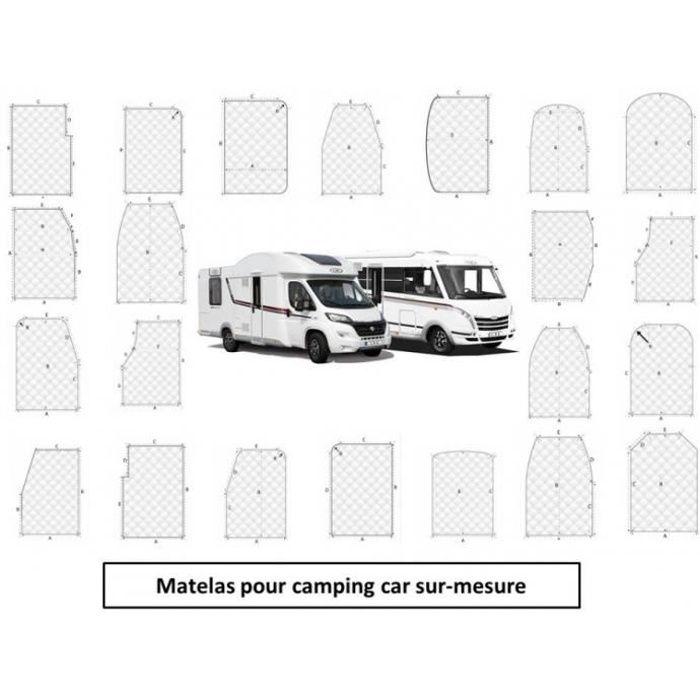 matelas pour camping-car Mémoire de forme Sur-mesure 2 Places
