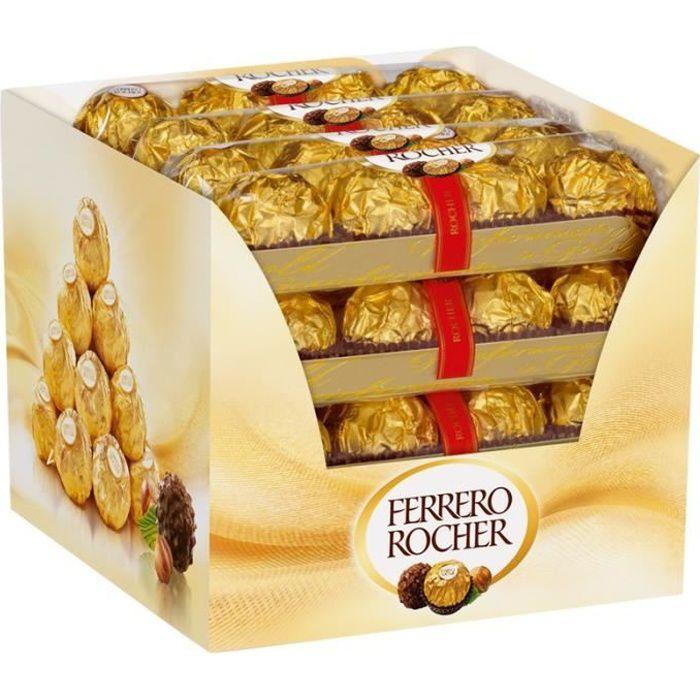Ferrero Rocher 4 barres, praliné, chocolat 16 piéces