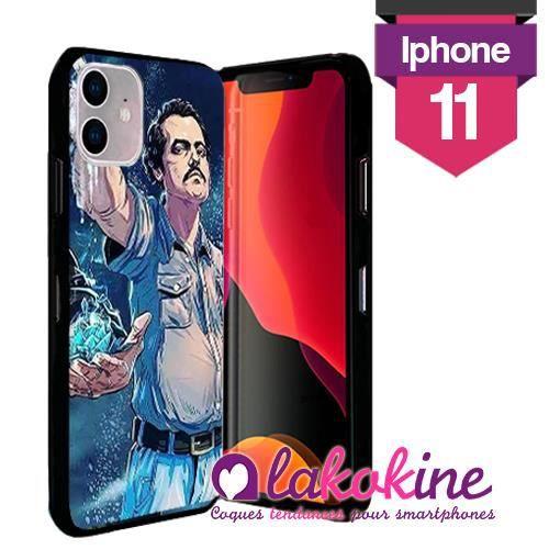 Coque Iphone 11 Silicone Pablo Escobar caricature