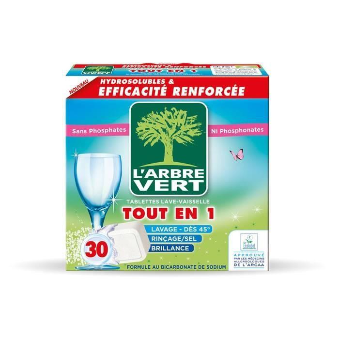 L'ARBRE VERT Tablettes lave-vaisselle Tout en 1 - 30 tablettes
