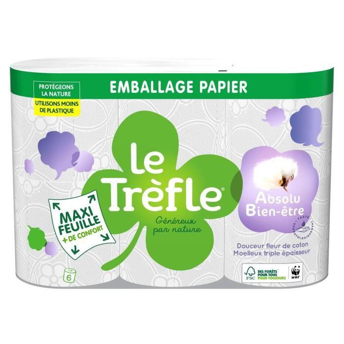 LE TREFLE Papier toilette Maxi Feuille Absolu bien-etre x6