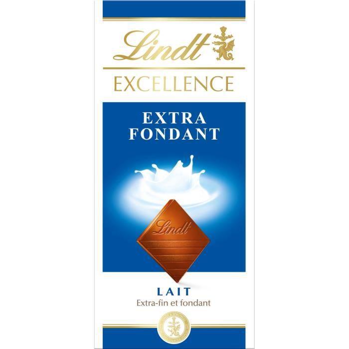 LINDT Tablette de Chocolat Excellence - Lait Extra fondant - 100 g