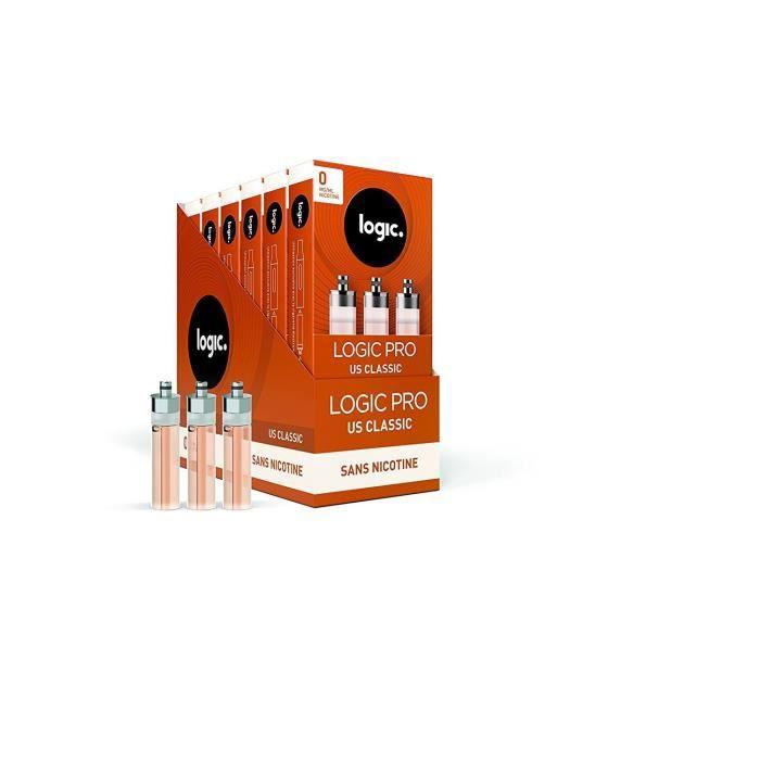 Logic - Lot de 3 Packs de 3 cartouches d'e-liquide pour cigarette électronique Logic Pro - Goût Menthe Fraîche - 0mg