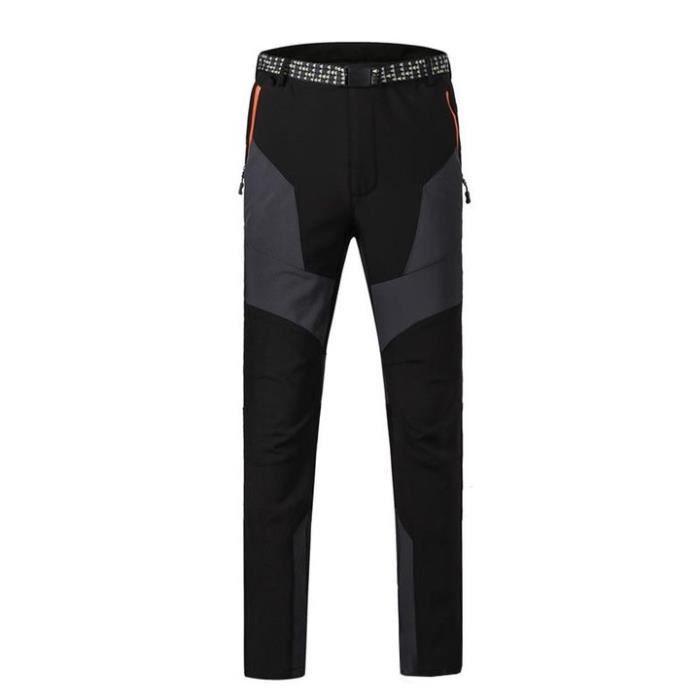 Hiver Pantalon de Softshell Homme Doublee Polaire Imperméable Pantalon de Randonnée Homme
