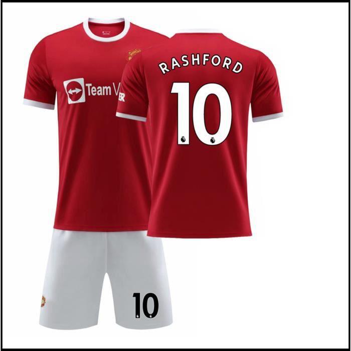 RASHFORD No.10 T-Shirt 2021 2022 Manchester-Maillot PRASHFORD de Formation Tissu Respirant pour Enfant