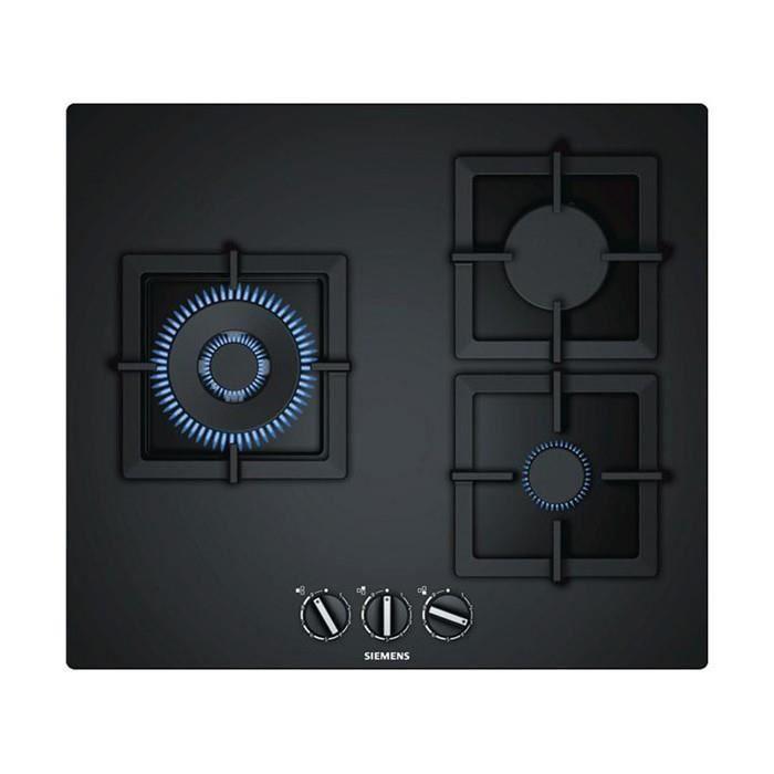 Plaques de cuisson Chic plaque au gaz siemens ag ep6a6cb20 (60 cm) noir (3 feux a gaz)