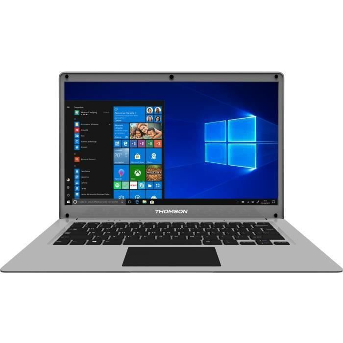 PC Portable Ultrabook - THOMSON Neo 14'' HD - Celeron - RAM 4Go - Double Stockage 64Go+512Go SSD - Windows 10S - Silver - AZERTY