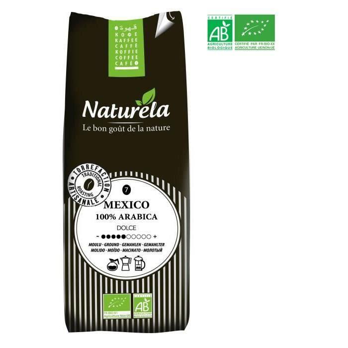 Naturela -250g- Café Mexico 100% Arabica Moulu n° 7 Bio