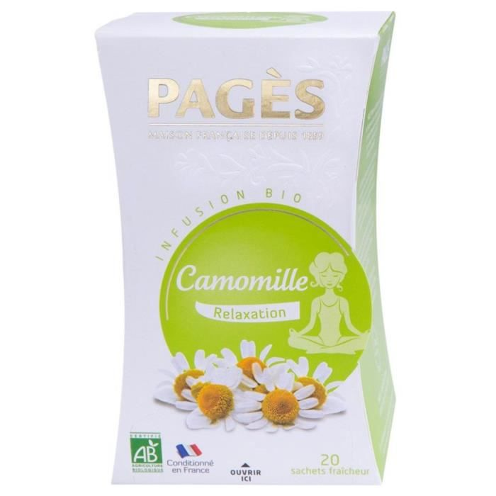Pages Infusion Relaxation Camomille Bio 20 sachets (lot de 3)