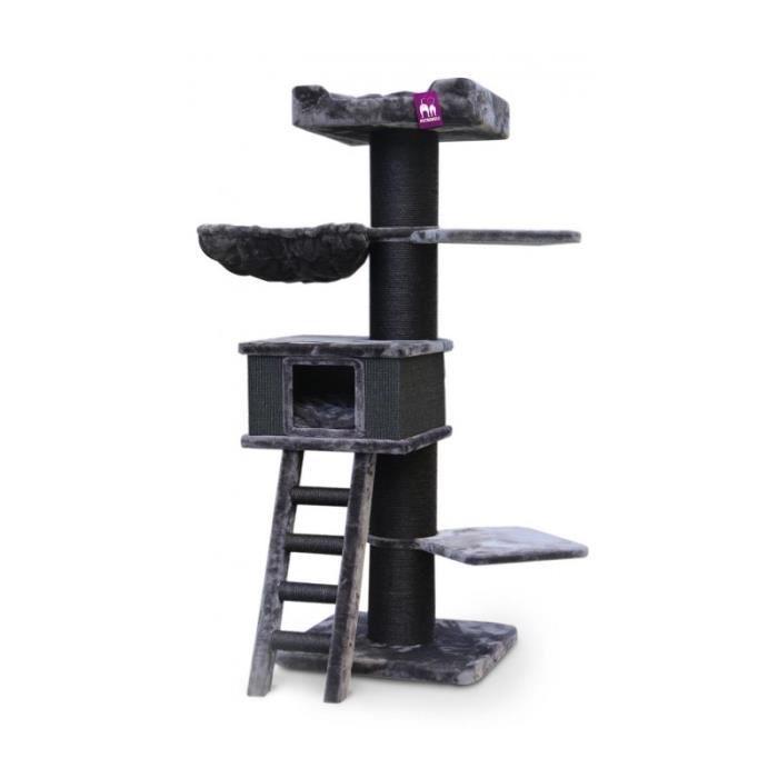 Arbre à chat Ragdoll 180 cm - PETREBELS 0,000000 Noir