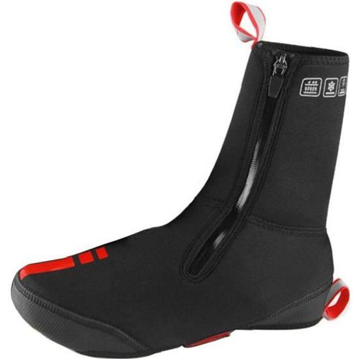 Couleurs à vélo de cyclisme étanche coupe-vent doublure VTT Chaussures chauds Couvre Protecteur thermique à vélo hiver (Noir, L)