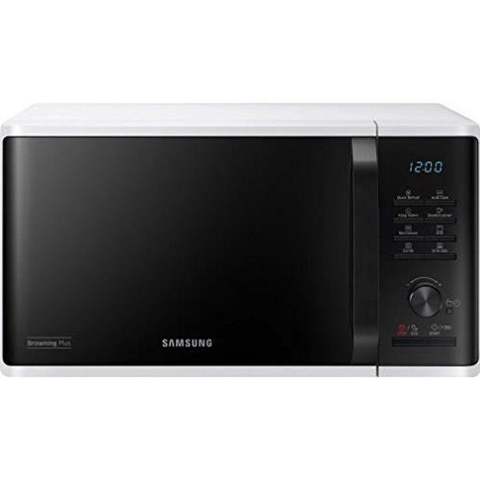 Samsung MG23 K3 515aw - EG Micro-onde - 48,9 cm - Dégivrage rapide - 27 programmes automatiques (Manuel Alleman MG23K3515AW-E