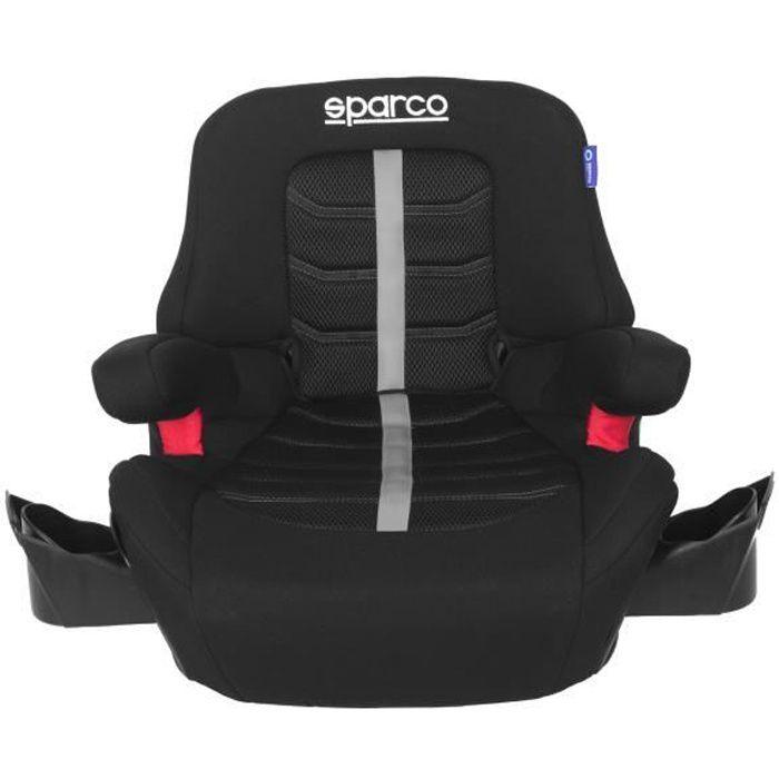 SPARCO Siege auto SK900IGR Isofix avec dossier Gr 3 - Noir