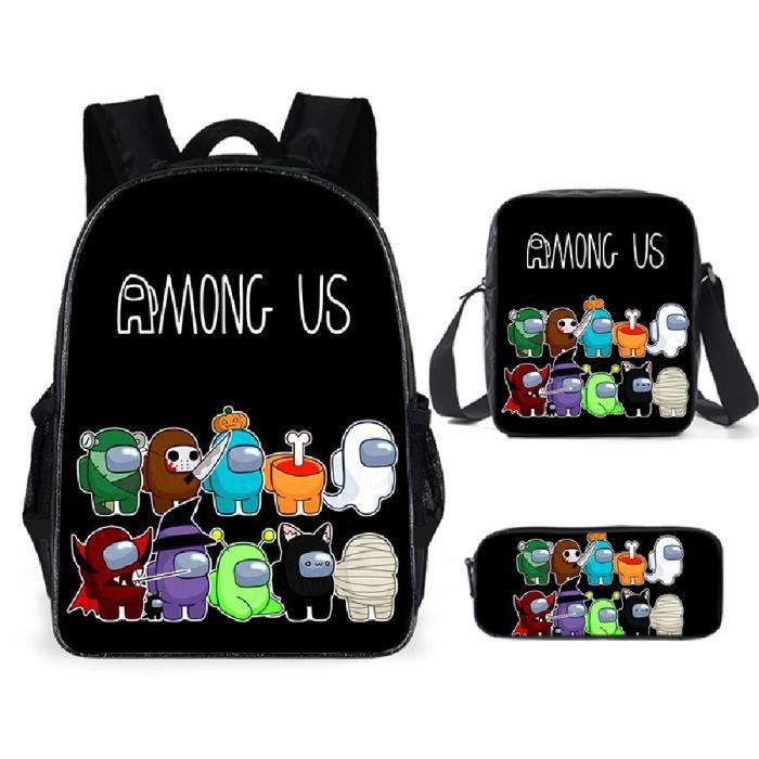 Among Us Sacs D'école Cool Garçons Filles Anime Sac À Dos Scolaire Parmi nous Enfants Backpack A17
