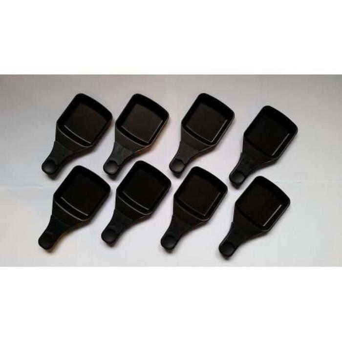 Coupelles/Poêlons carrés (lot de 8) Raclette Tefal (XA400202-8)