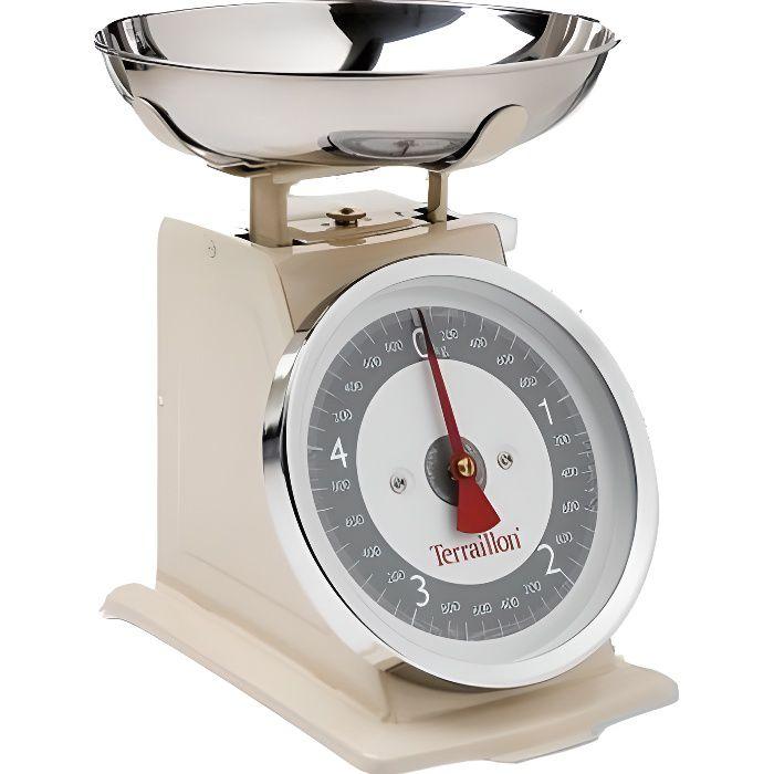 TERRAILLON Balance de cuisine mécanique Tradition 500 - Crème