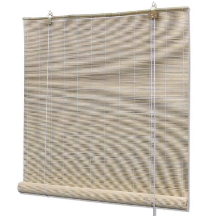 Store roulant en bambou 150 x 160 cm Naturel - Habillages de fenêtre - Stores vénitiens et stores en toile - Brun - Brun