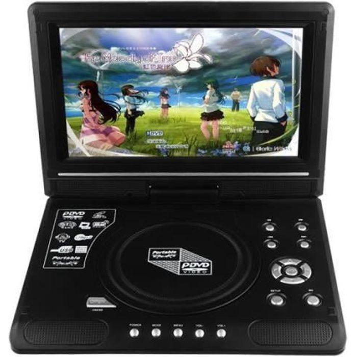 ZX13813-Compatible avec DVD, SVCD, CD, CD-R-RW, CD d'image Kodak, MP3, MP4. 9.8inch écran (800*480) Capable de pivote