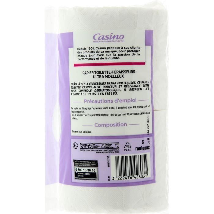 CASINO Lot de 6 Papiers Toilette 4 Plis