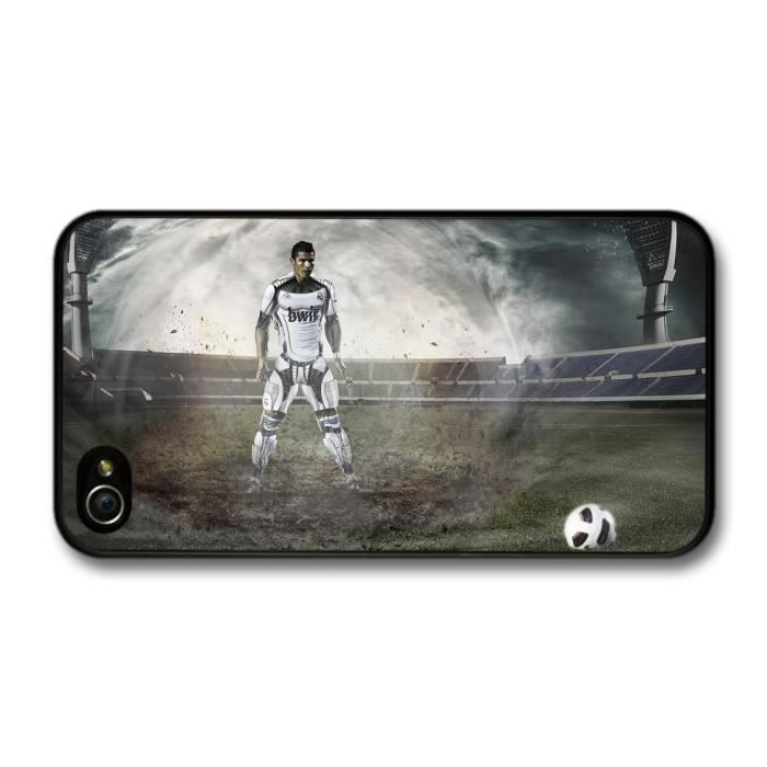 Cristiano ronaldo cyborg real madrid football player coque pour iphone 4 4s achat housse - Housse de couette cristiano ronaldo ...