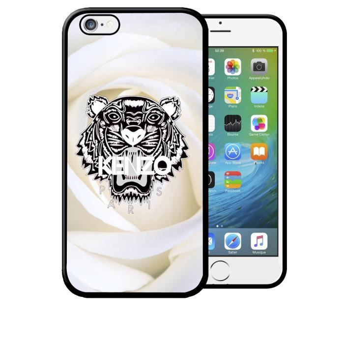 coque iphone 5c kenzo tigre roses blanches fleurs
