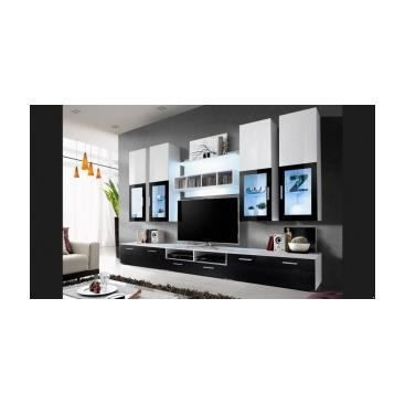 meuble tv mural ada noir achat vente meuble tv meuble tv mural ada noir cdiscount. Black Bedroom Furniture Sets. Home Design Ideas
