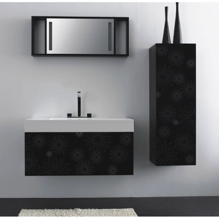 meuble haut salle de bain noir. Black Bedroom Furniture Sets. Home Design Ideas