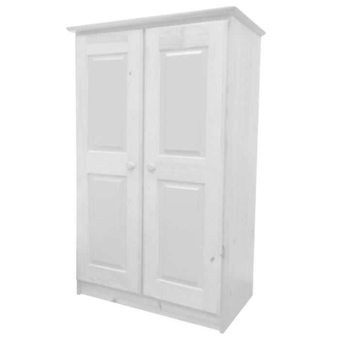 armoire en pin massif coloris blanc lasure achat vente. Black Bedroom Furniture Sets. Home Design Ideas