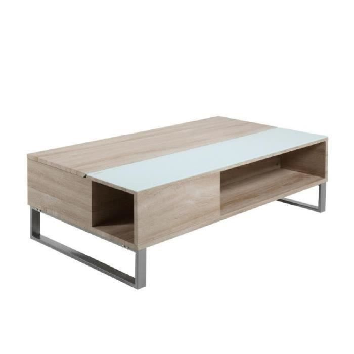 Table basse relevable azalea en ch ne m lamin achat for Table basse relevable design