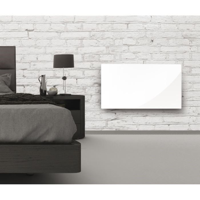 alpina radiateur rayonnant 1500w verre blanc achat. Black Bedroom Furniture Sets. Home Design Ideas