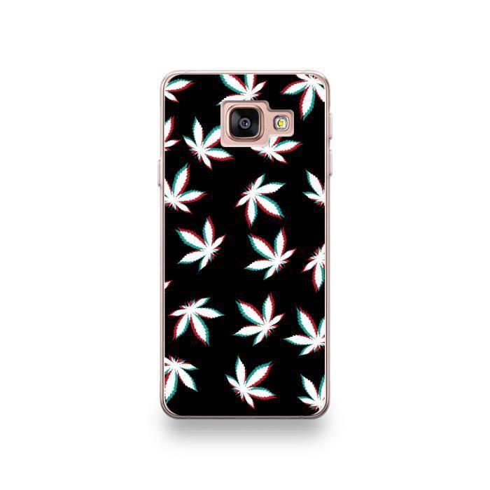 Coque Samsung Galaxy A3 2017 Silicone motif Feuilles Cannabis Fond ...