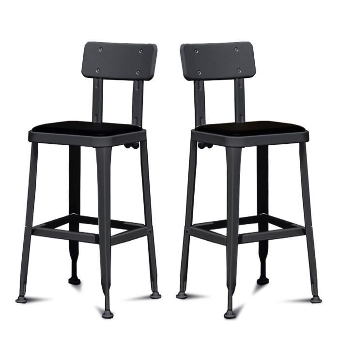 lot de 2 tabourets de bar vintage benvenuto cou achat. Black Bedroom Furniture Sets. Home Design Ideas