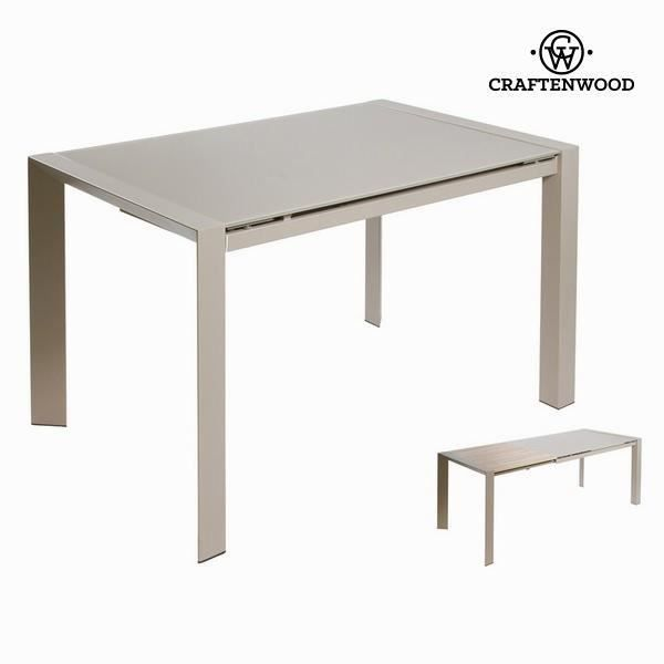 Table extensible grise by craftenwood achat vente for Table console extensible grise