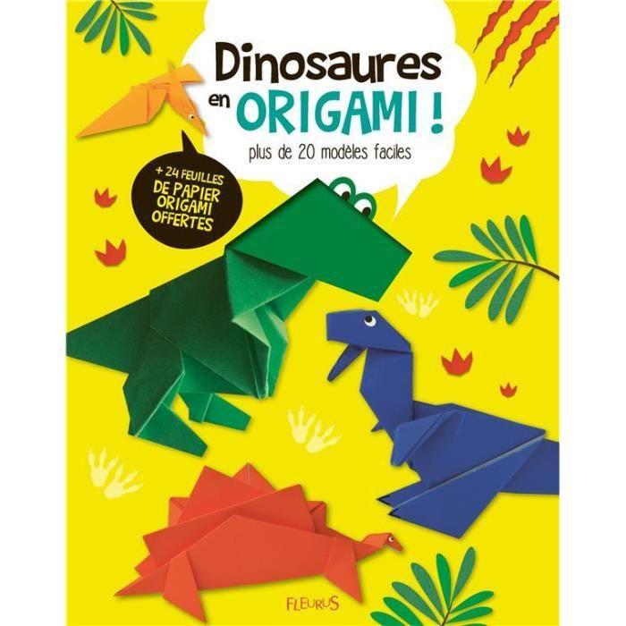 LIVRE 0-3 ANS ÉVEIL Livre - dinosaures en origami ! plus de 20 modèles