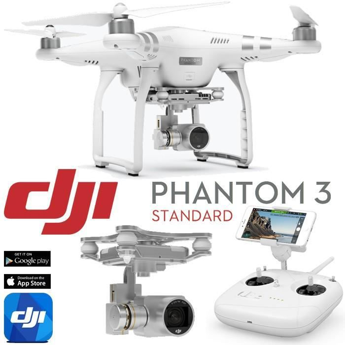 dji phantom 3 standard avec camera 2 7k et retour fpv en hd rtf achat vente drone. Black Bedroom Furniture Sets. Home Design Ideas