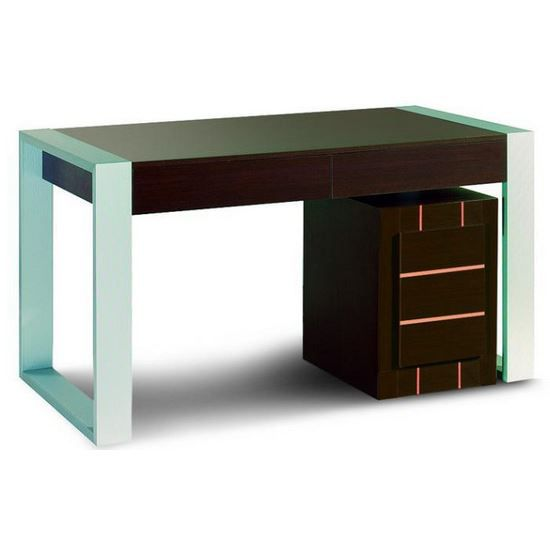 bureau moderne achat vente bureau bureau moderne cdiscount. Black Bedroom Furniture Sets. Home Design Ideas
