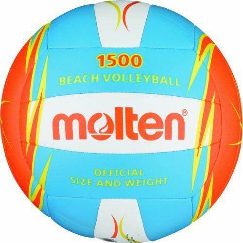 Molten Beach Volley-Ball V5B1500 Bleu//Rouge