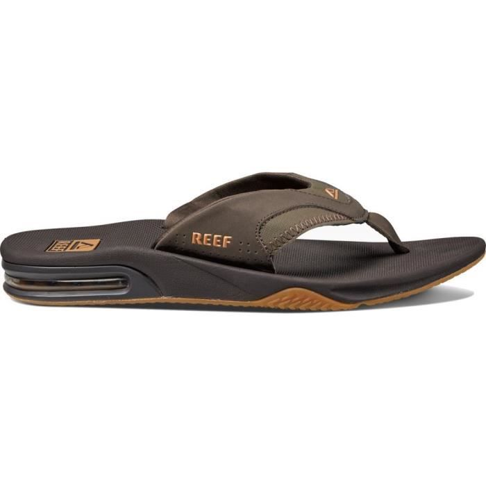 Fanning, Flip-Flop Homme, Marron (Brown/Gum) - 46 EU (12 UK)Reef